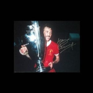 Alan Kennedy Signed Liverpool 1981 European Cup Final Photo