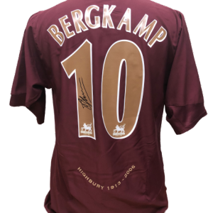 Dennis Bergkamp Signed Arsenal Redcurrant Shirt
