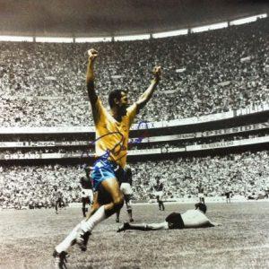"Carlos Alberto ""Greatest Team Goal"" Signed Photo"