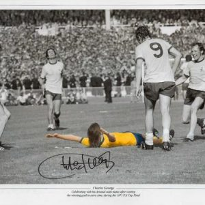 Charlie George Signed Arsenal 1971 Photo