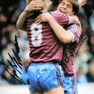 Frank McAvennie & Tony Cottee Dual Signed Photo