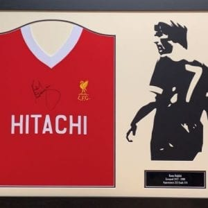 Kenny Dalglish Framed Signed Shirt with Silhouette