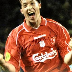 Robbie Fowler Signed Liverpool Photo