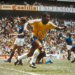 Jairzinho Signed 1970 World Cup Final Photo