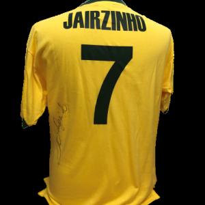 Jairzinho Signed Brazil 1970 Shirt
