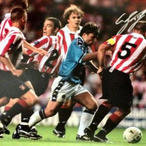 Georgi Kinkladze Signed Manchester City Photo