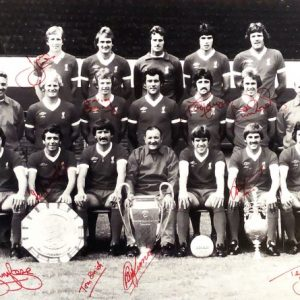 Liverpool 1977 European Cup Winners Multi Signed 16×20 Photo