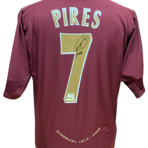 Robert Pires Signed Arsenal Redcurrant Shirt