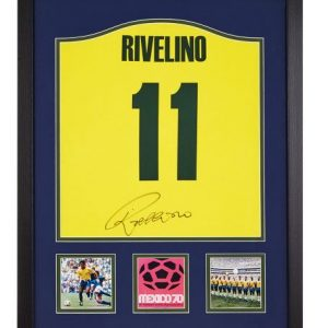 Roberto Rivelino Signed Brazil 1970 Number 11 Shirt