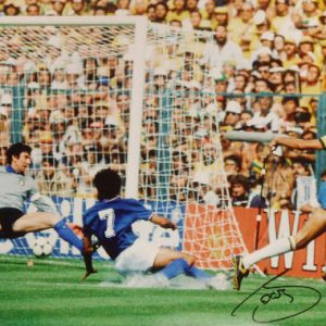 Sócrates Signed 1982 World Cup Photo