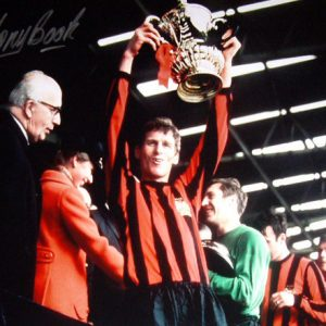 Tony Book Signed 1969 FA Cup Final Manchester City Photo