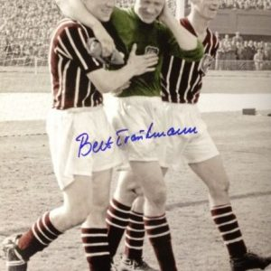 Bert Trautmann Signed 1956 FA Cup Final Photo