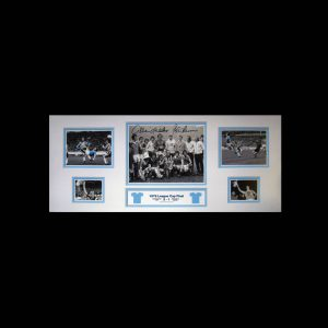 Tueart & Barnes Signed Manchester City 1976 League Cup Final Signed Storyboard