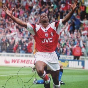 Ian Wright Signed Arsenal Photo