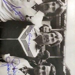Ricky Villa, Ossie Ardiles & Keith Burkinshaw Signed Tottenham Photo