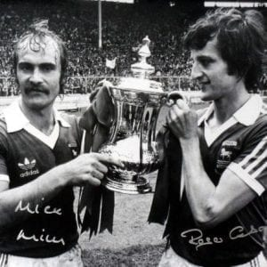 Mills & Osbourne Signed 1978 FA Cup Final Photo