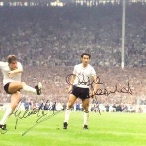 Glenn Hoddle and Ossie Ardiles Dual Signed 1981 FA Cup Final Photo