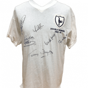 Tottenham 1961 Double Winners Shirt Signed by 7