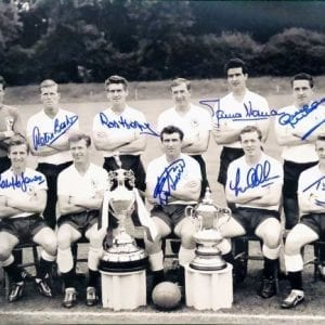 Tottenham 1961 Double Winners Photo Signed by 8
