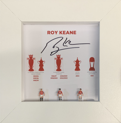 Roy Keane Signed Hand Painted Subbuteo Career Display