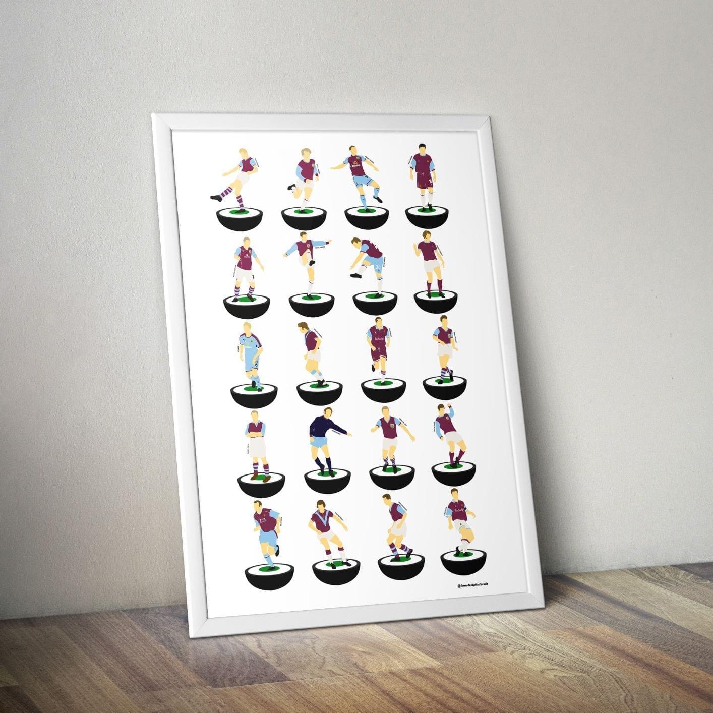 Burnley Subbuteo Print – Unframed