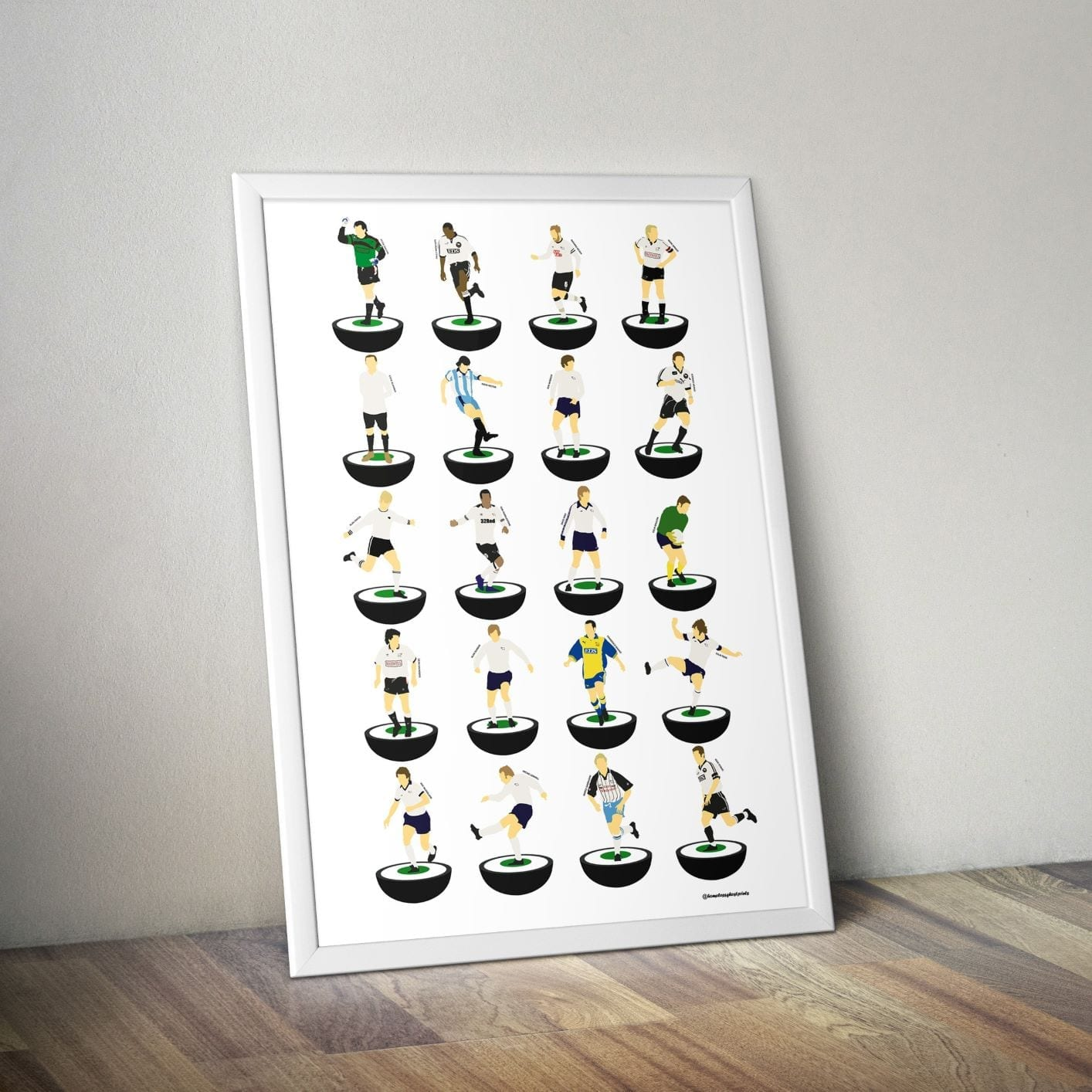 Derby County Subbuteo Print – Unframed