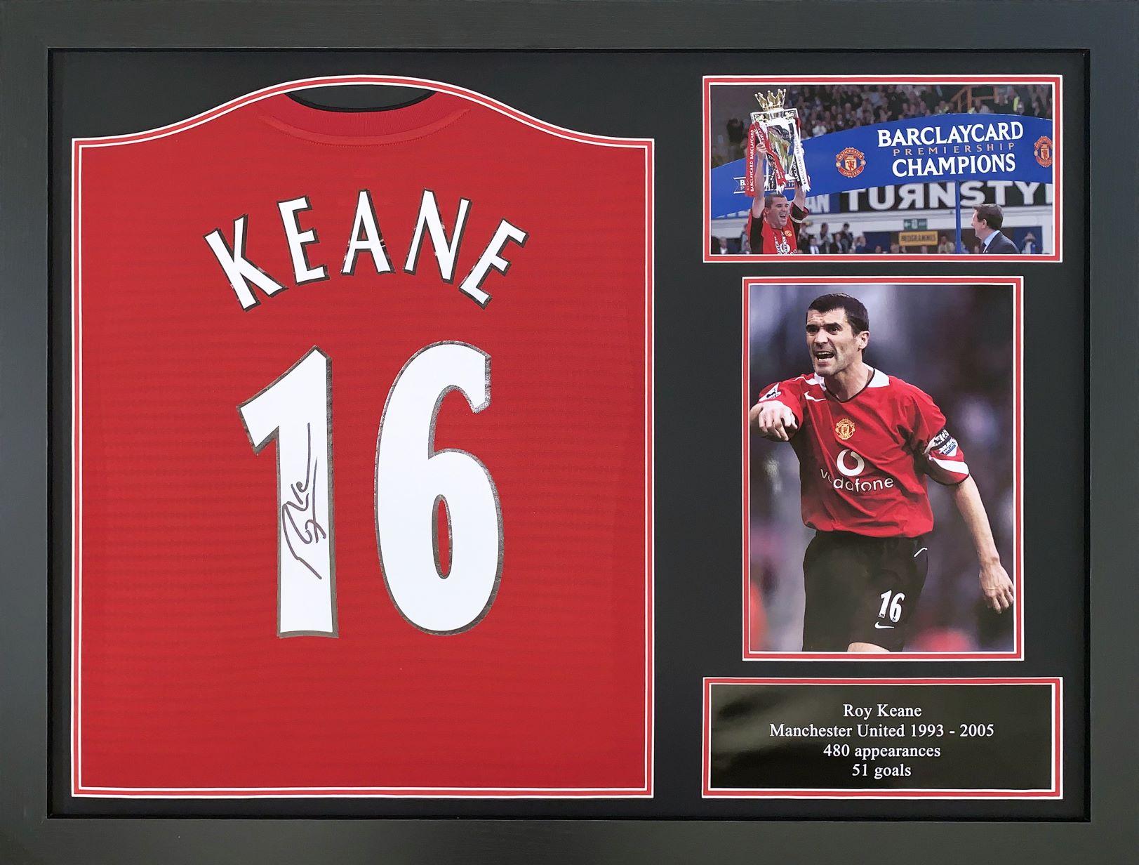 Roy Keane Signed Manchester United 16 Shirt