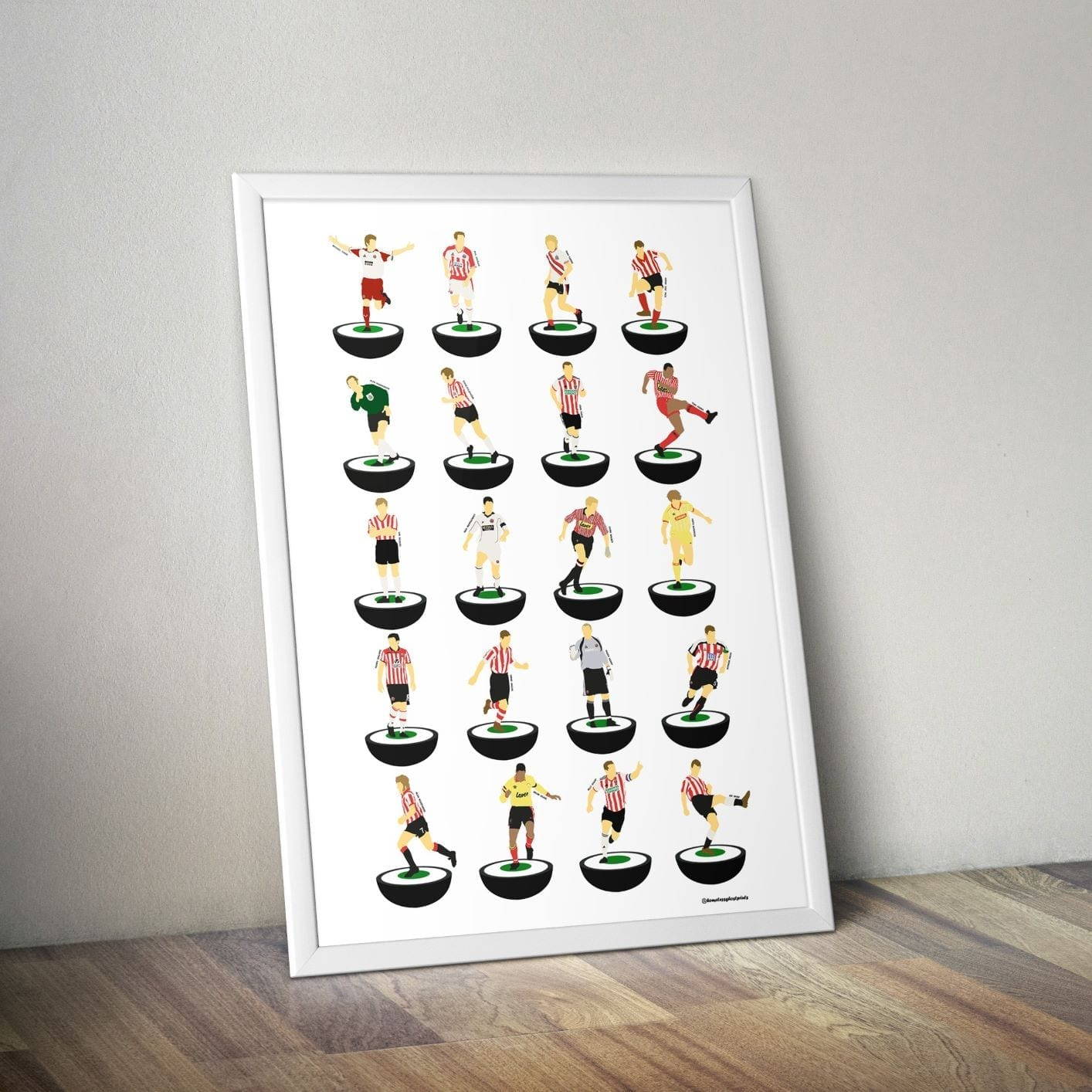 Sheffield United Subbuteo Print – Unframed