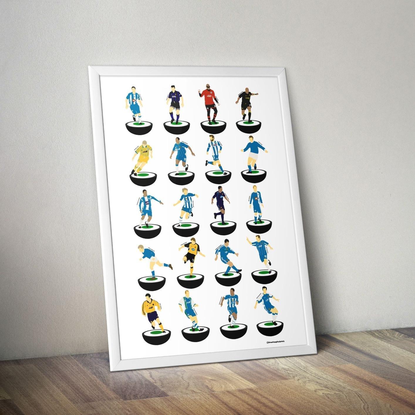 Wigan Athletic Subbuteo Print – Unframed
