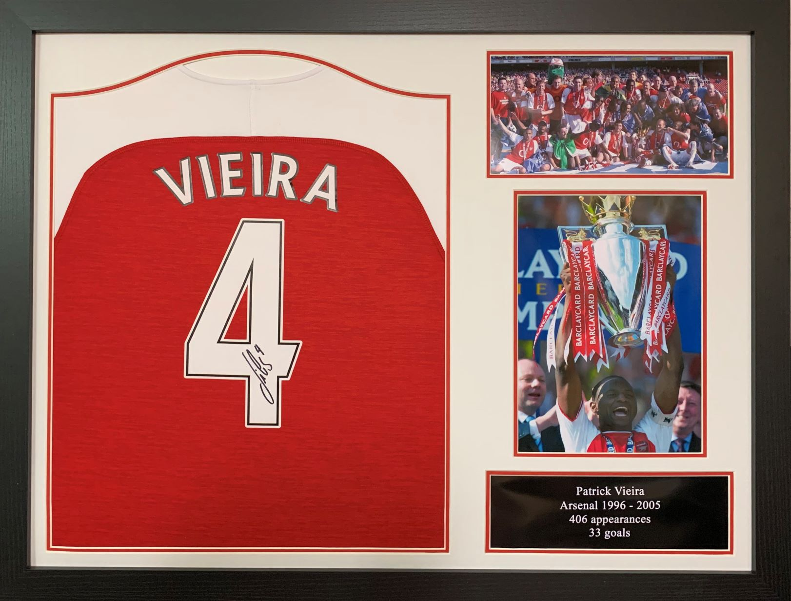 Patrick Vieira Signed Arsenal Shirt