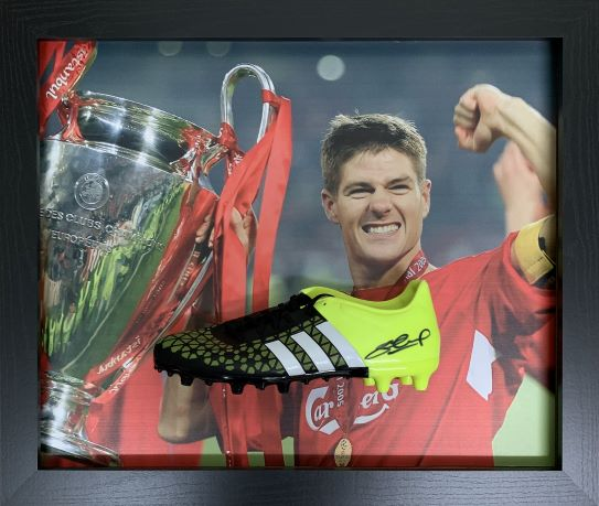 Steven Gerrard Signed Boot – Framed