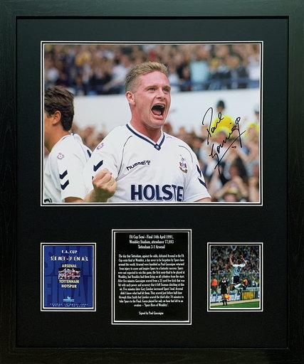 Paul Gascoigne Signed Tottenham Photo