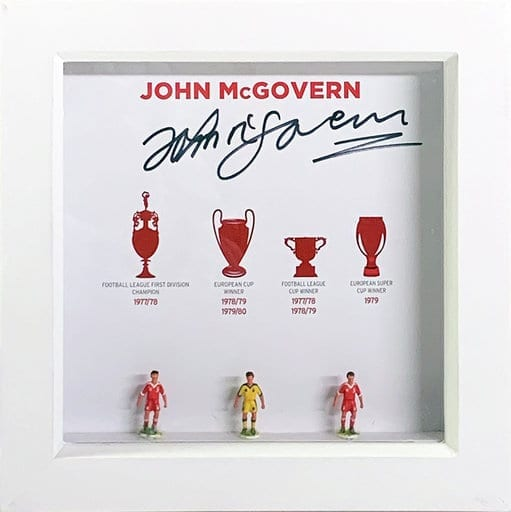 John McGovern Signed Hand Painted Nottingham Forest Subbuteo Display