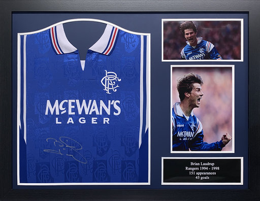 Brian Laudrup Signed Rangers 1998 Shirt