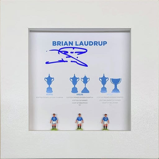 Brian Laudrup Signed Hand Painted Rangers Subbuteo Display