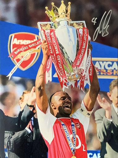 Patrick Vieira Signed Arsenal Photo