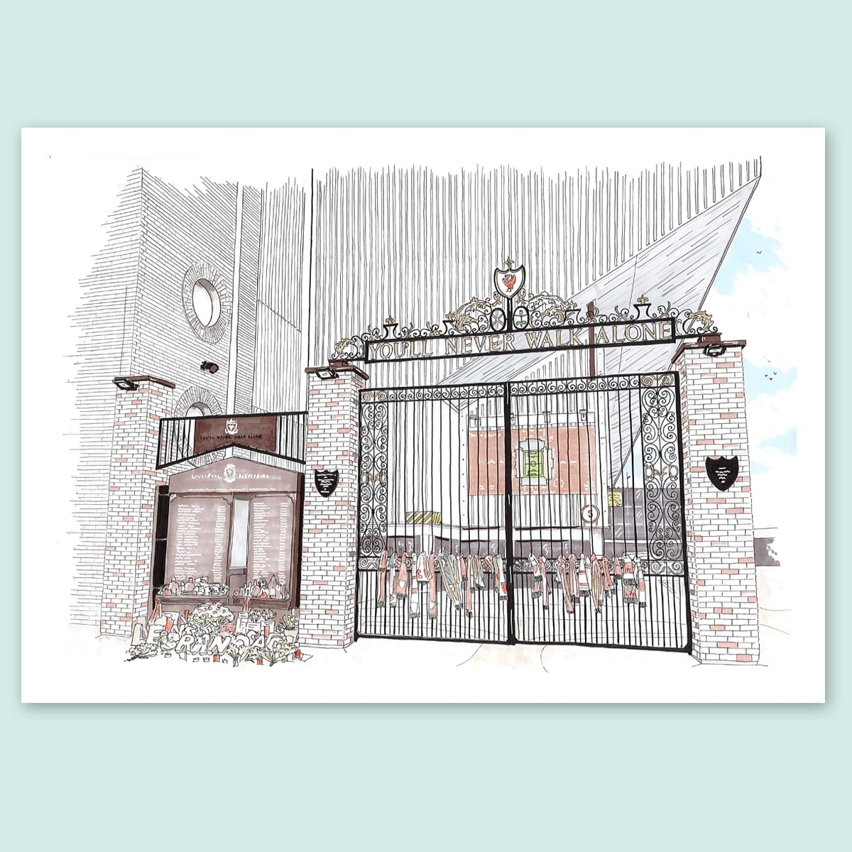 Liverpool FC, Anfield Shankly Gates Limited Edition Print