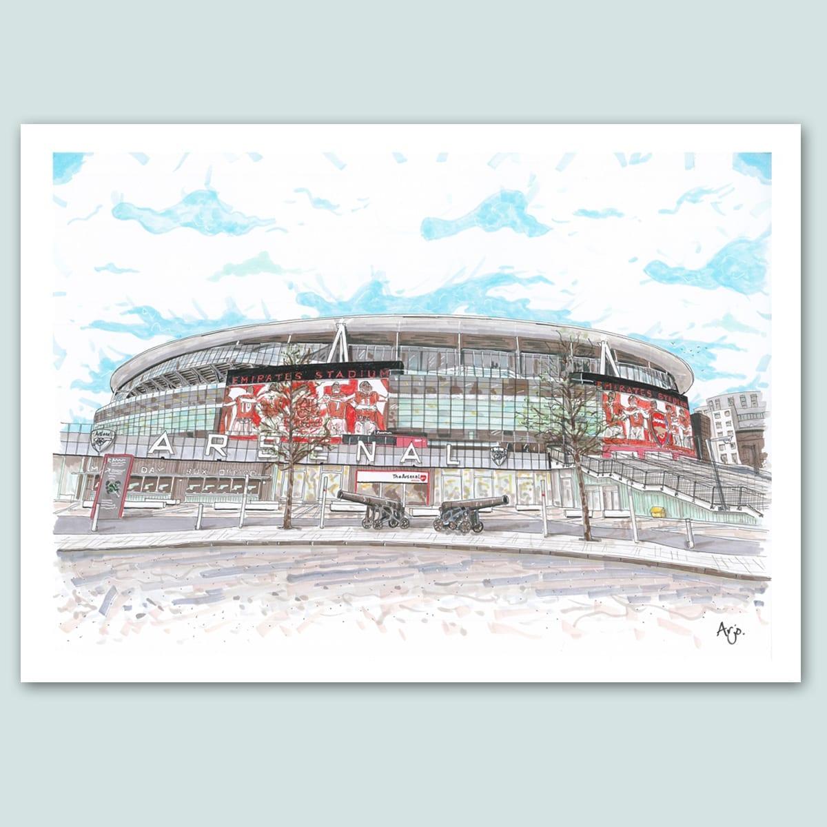 Arsenal FC, Emirates Stadium Limited Edition Print