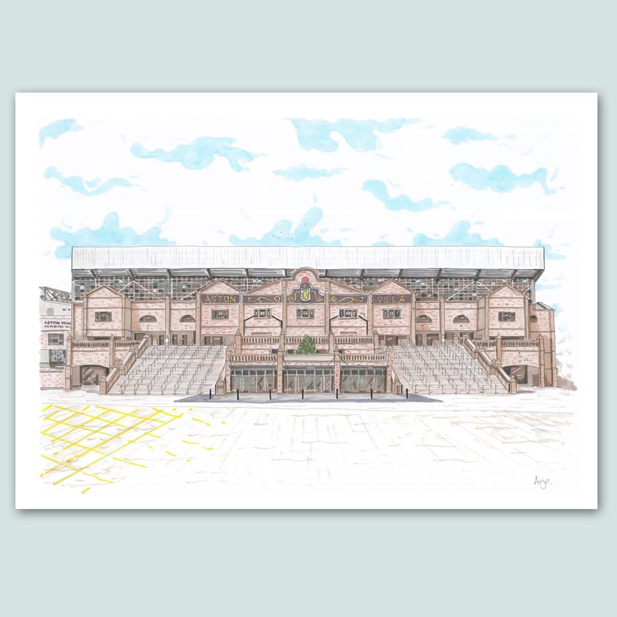 Aston Villa FC, Villa Park Stadium Limited Edition Print
