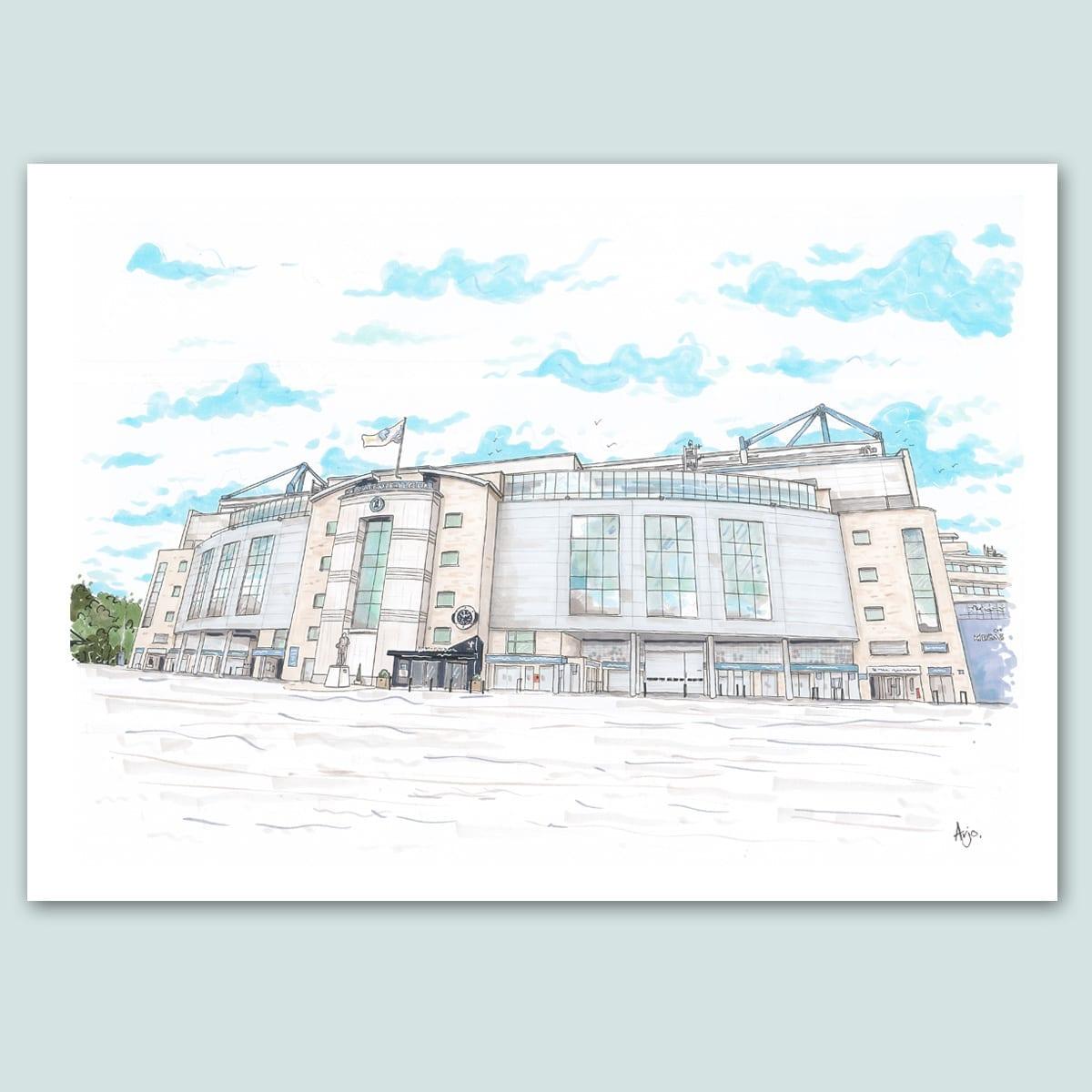 Chelsea FC, Stamford Bridge Stadium Limited Edition Print