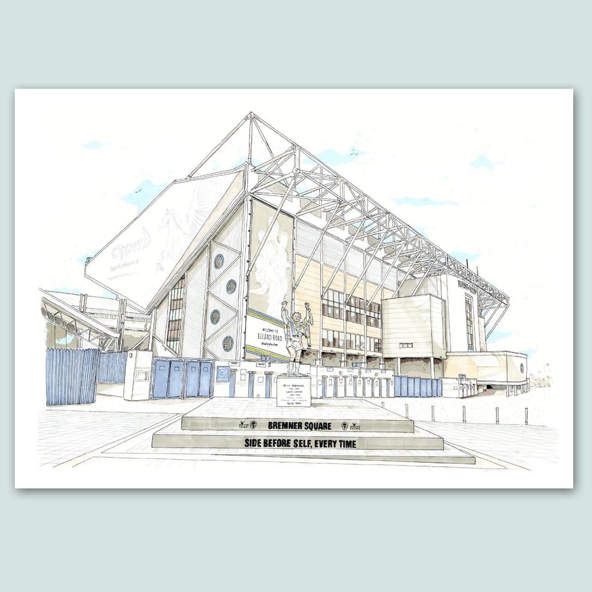 Leeds United, Elland Road Limited Edition Print