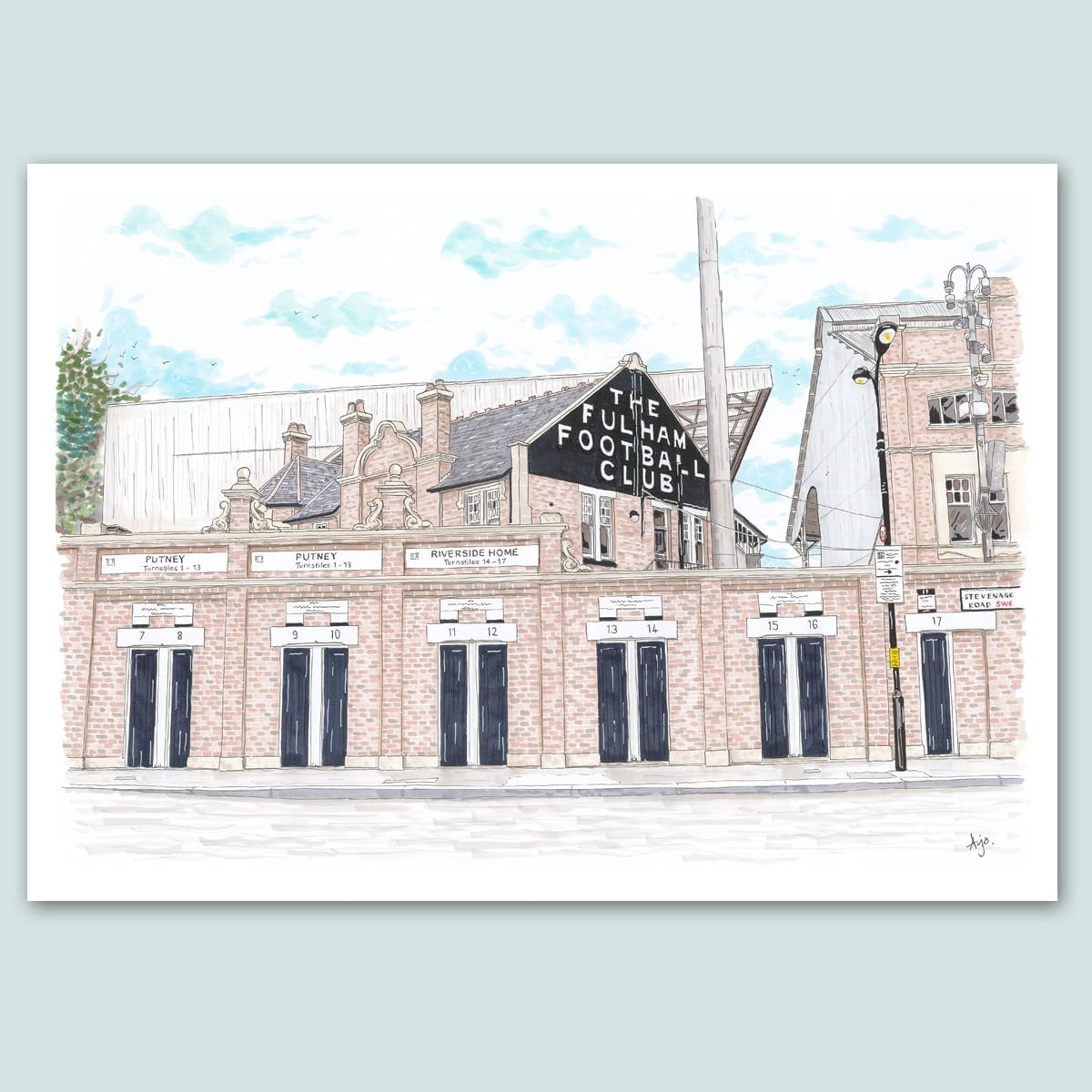 Fulham FC, Craven Cottage Stadium Limited Edition Print
