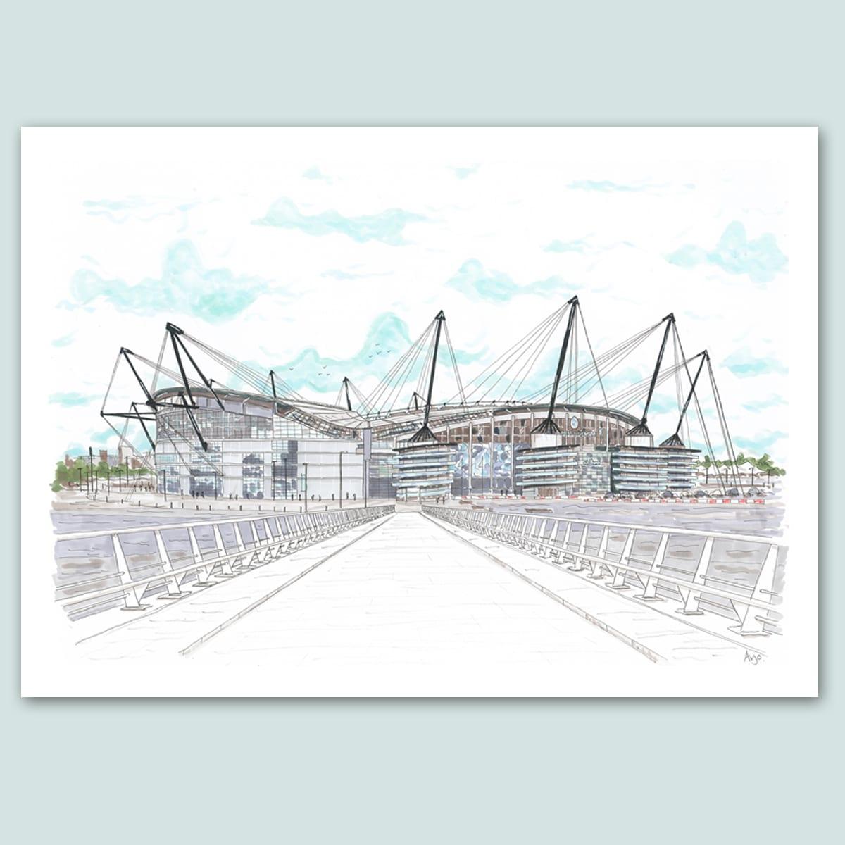Manchester City FC, Etihad Stadium Limited Edition Print