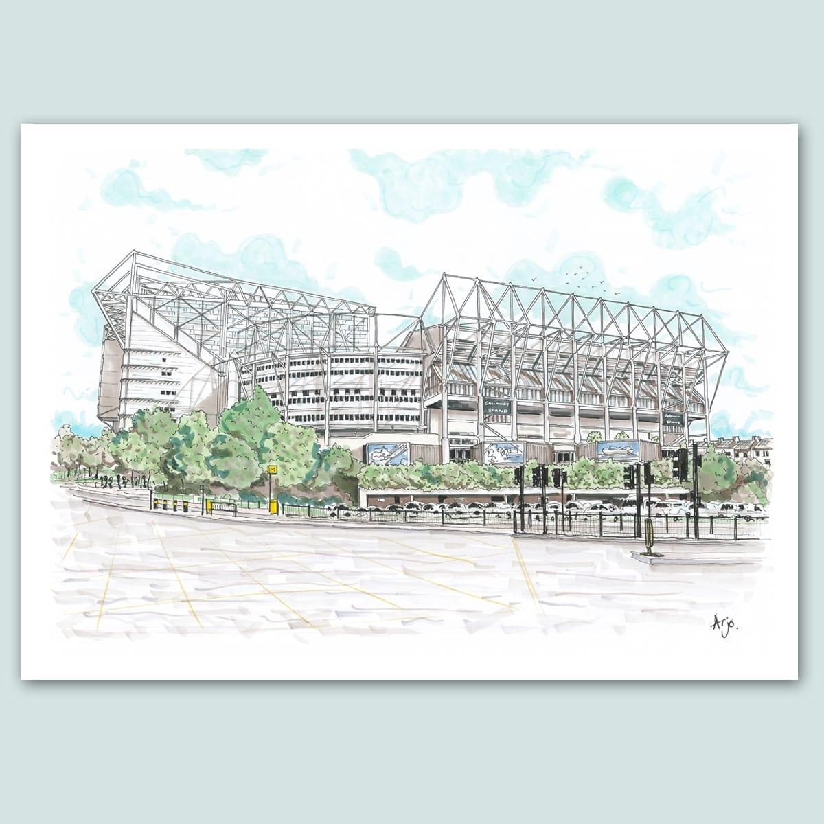 Newcastle United, St James Park Stadium Limited Edition Print