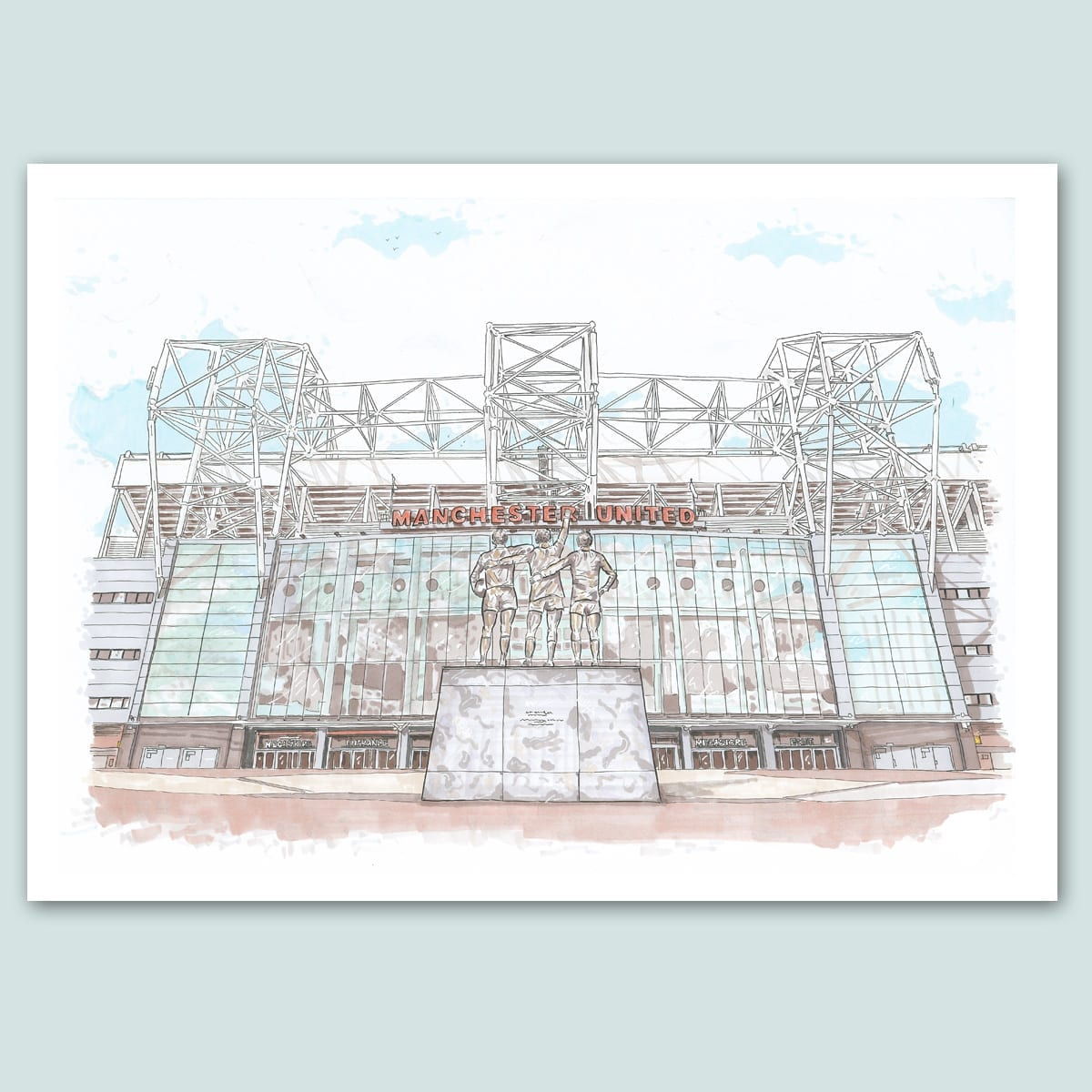 Manchester United, Old Trafford Stadium Limited Edition Print