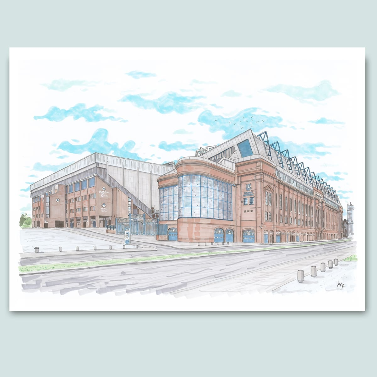 Rangers FC, Ibrox Stadium Limited Edition Print
