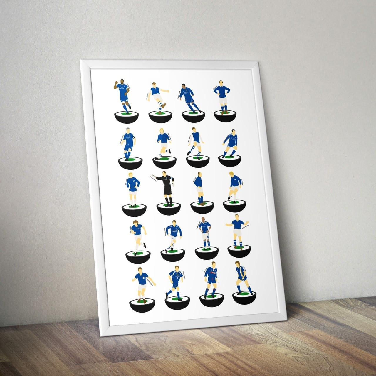 Cardiff City Subbuteo Print – Unframed