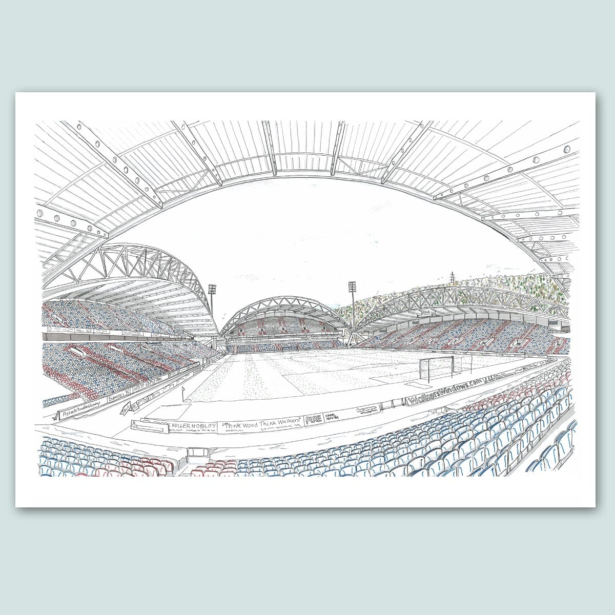 Huddersfield Town Football Stadium Limited Edition Print