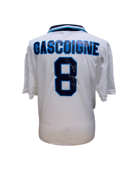 "Paul ""Gazza"" Gascoigne Signed Euro 96 England Shirt"