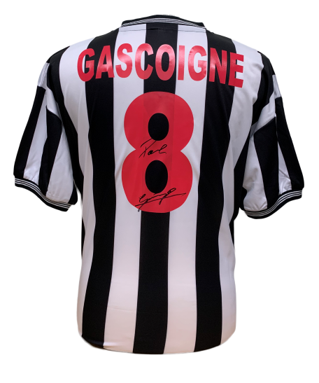 "Paul ""Gazza"" Gascoigne Signed Newcastle United Shirt"